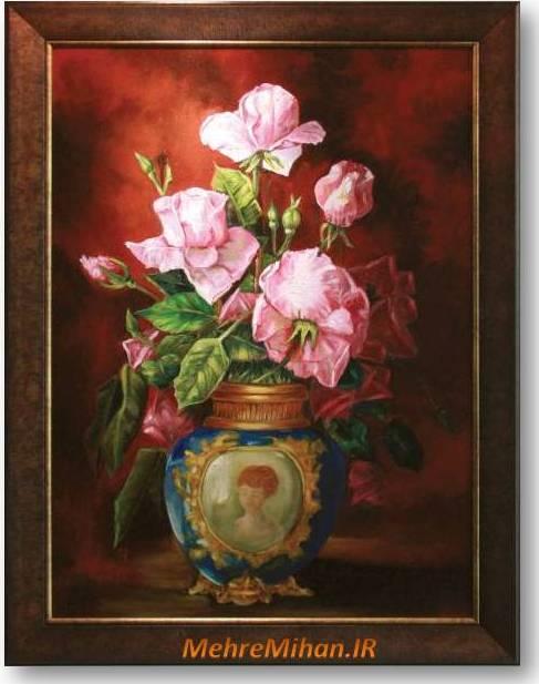 نقاشی گلدون گل